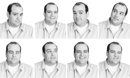 collared shirt: Many Expressions from mid-thirties Man 2