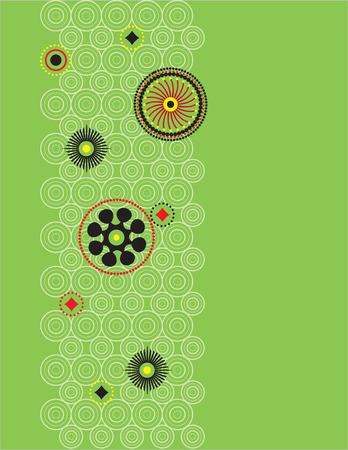 Cirkel patroon met verschillende kleuren.