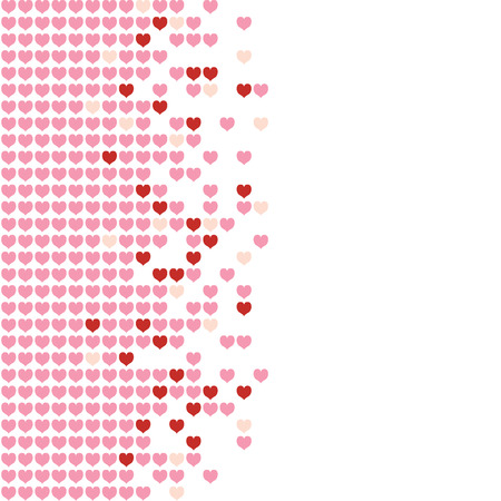 Colored hearts in a mosaic-style pattern. Stock Vector - 4130772