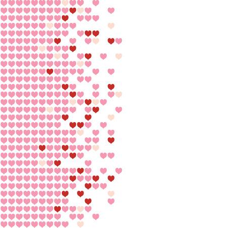 Gekleurde harten in een mozaïek-stijl patroon. Stock Illustratie