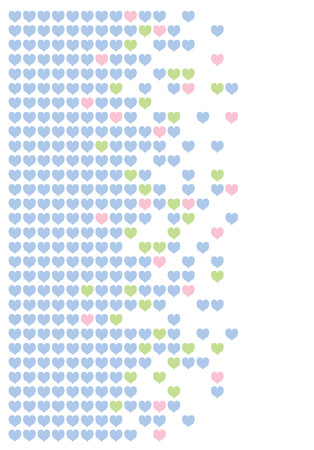 Colored hearts in a mosaic-style pattern. Stock Vector - 8348509
