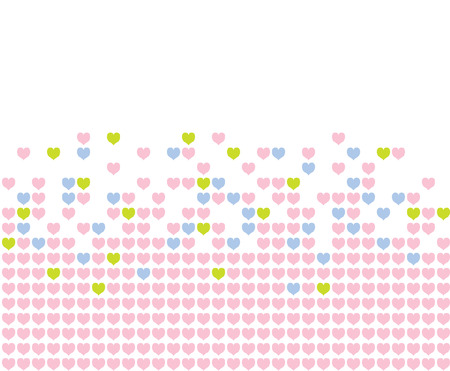 Colored hearts in a mosaic-style pattern. Stock Vector - 8348526
