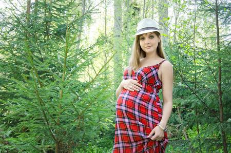human fertility: pregnant woman