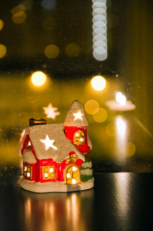 dollhouse: Christmas toy house, New Year and Christmas mood