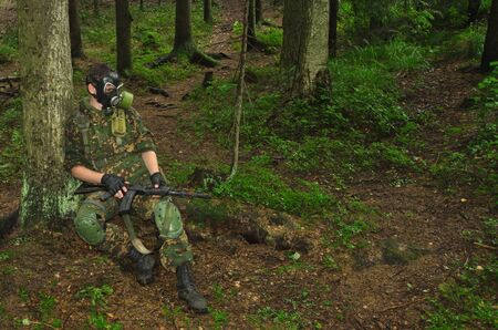 copse: soldiers in woods