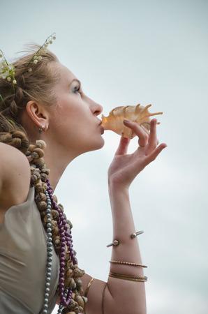 valkyrie: portrait of mermaid Stock Photo
