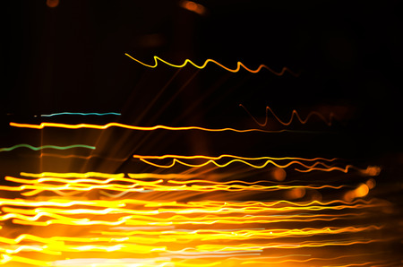 abstract light lines on black background