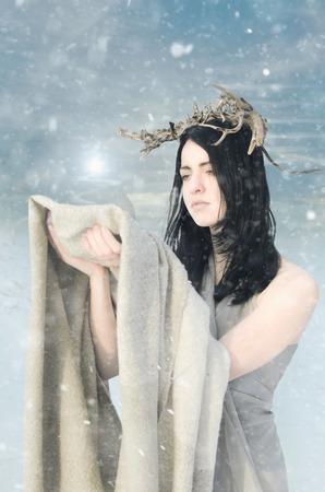 portrait of the snow Queen
