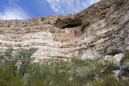 dwelling: Montezuma Castle an Arizona cliff dwelling.
