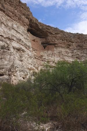 dwelling: Montezuma Castle cliff dwelling in Arizona.