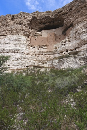 dwelling: Montezuma Castle cliff dwelling in Arizona.