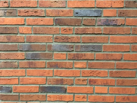 Background of red brick wall pattern texture. Ideal for graffiti inscriptions
