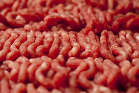 Close Up of Raw Minced Meat