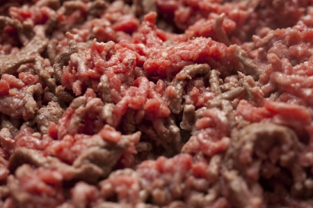 Close Up of Cooking Minced Meat Stock Photo