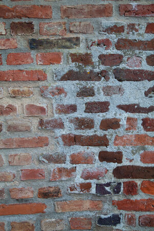 Old Worn Red Brick Wall Background Texture