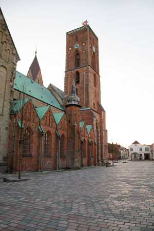 Ribe Cathedral in Denmark Stock Photo