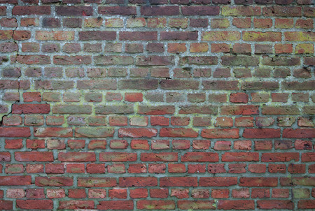 Old Worn Red Brick Wall Background Texture photo