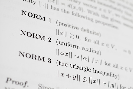 Math Expression About Norms Stock Photo