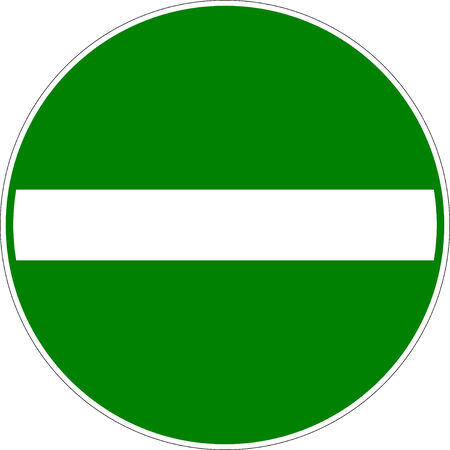 Green Entry Allowed Traffic Sign Vector eps10 Vector