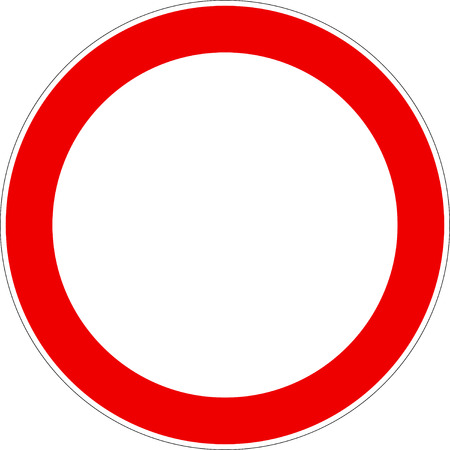 No Vehicles Traffic Sign Vector eps10 Illustration