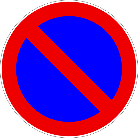 No Parking Traffic Sign Vector eps10 Ilustrace
