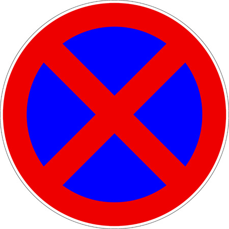 No Stopping Parking Traffic Sign Vector eps10