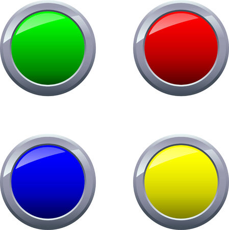 shiny buttons: Round Shiny Glossy Framed Buttons Vector Drawing - EPS10