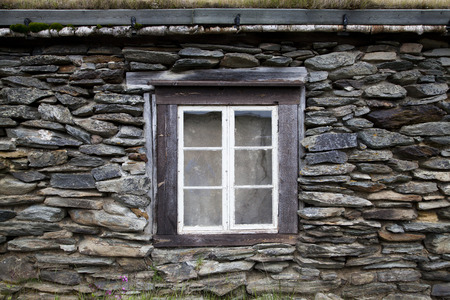 Old Window in Rural House photo