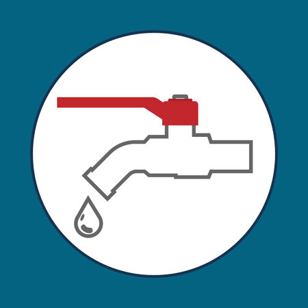 Faucets simple line flat vector