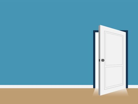 interior open door with copy space vector