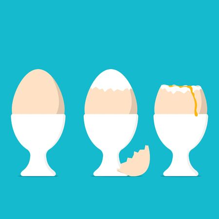 Boiled eggs food image Illustration