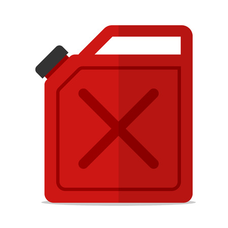 red canister gasoline icon isolated flat vector