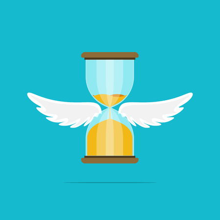 Hourglass wing float concept flat vector