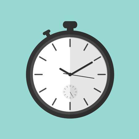 stopwatch flat vector