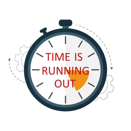 time is running out concept vector