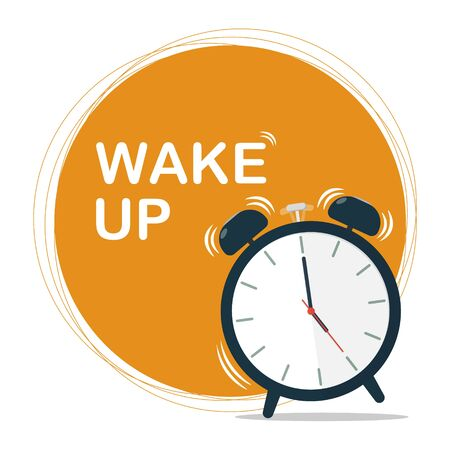 wake up concept vector