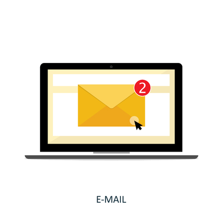 notebook e-mail notifications vector