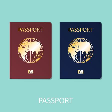 passport world flat vector