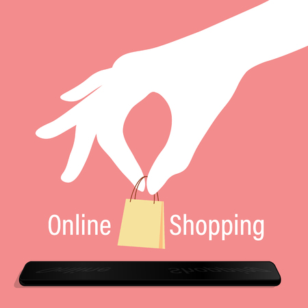 online shopping credit card Illustration