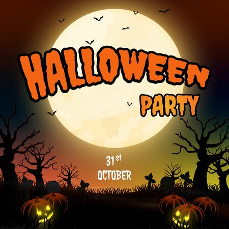 night halloween forest background vector