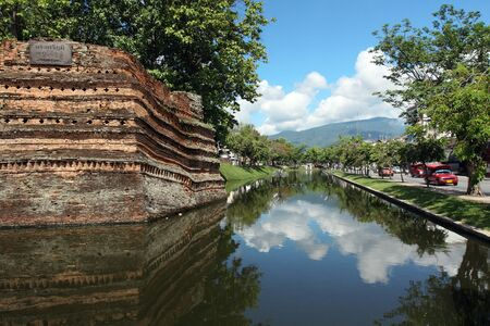 Chiangmai moat and acient wall