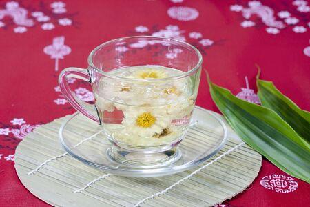 Chrysanthemum tea or flower tea photo