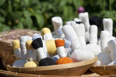 Herbal massage balls photo