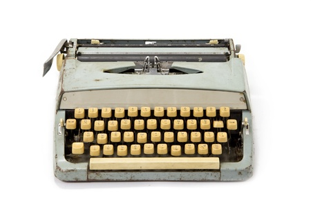 old office: Old dirty retro typewriter