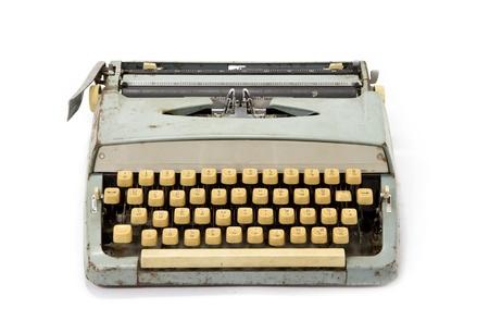 communication occupation: Vecchia macchina da scrivere sporca retro