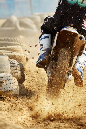 motocross bike increase speed in track Stock Photo - 11956509