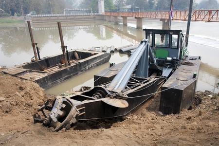 dredger: dredger boat