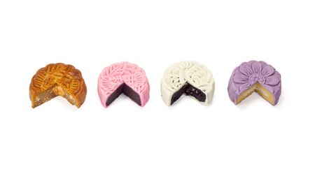 Four Snow skin mooncakes photo