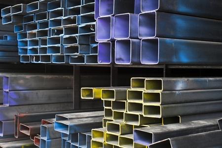 round rods: Metal tubes Stock Photo