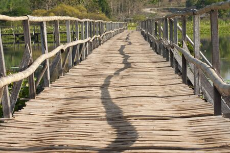 Bamboo bridge photo